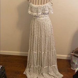 Vtg Gunne Sax Floral Boho Maxi Dress
